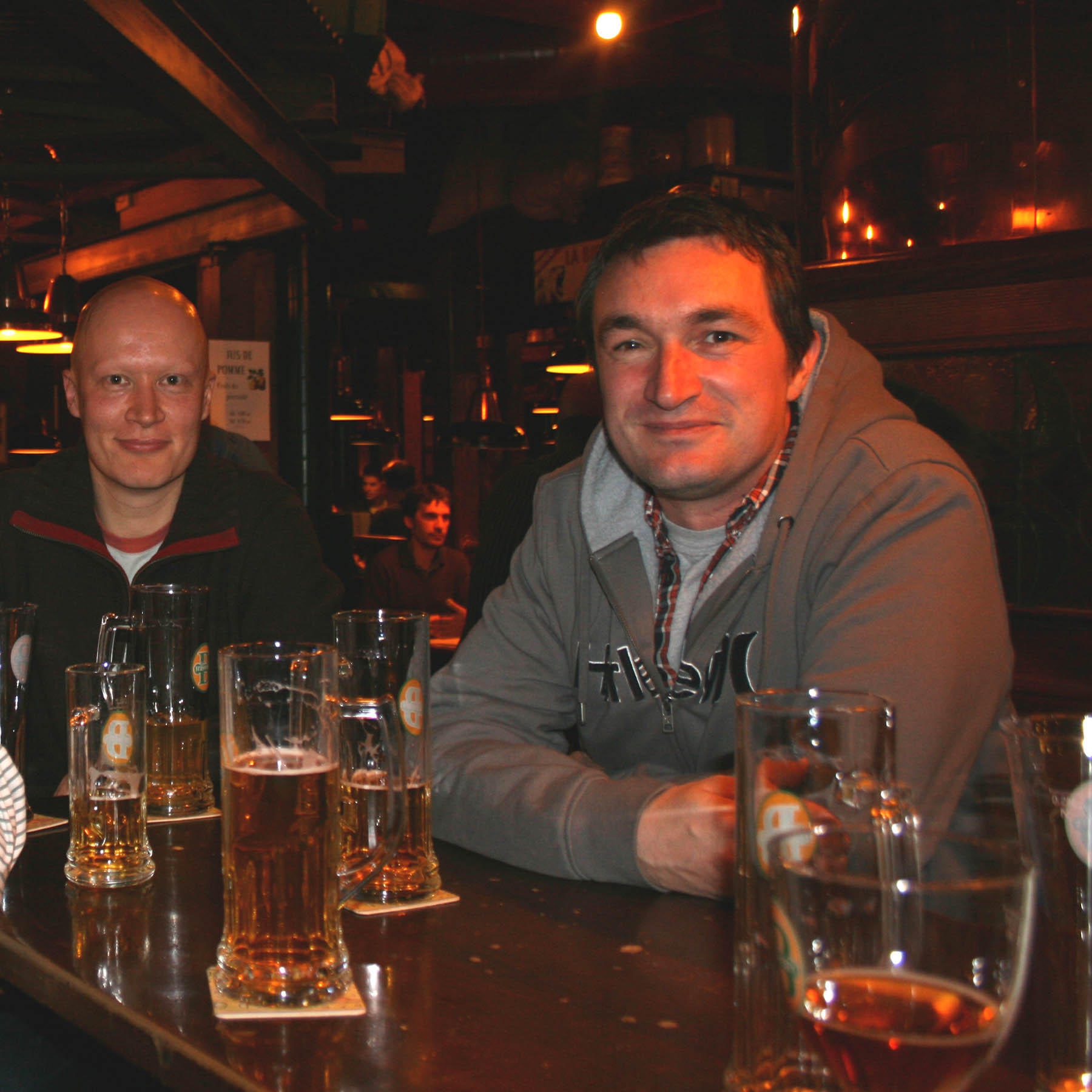 Male accompanying spouse drinks in Nyon on Thursday 26th February