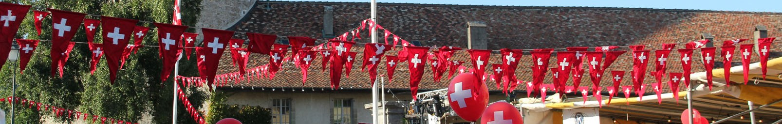 Swiss National Day in Nyon – Castle will be turned red!