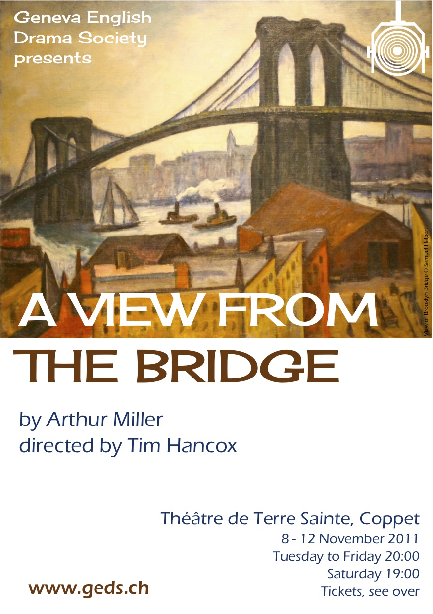"a view from the bridge 19 essay ""a view from the bridge"" by arthur miller is a powerful and compelling play in which the main character, eddie, succumbs to his weakness and loses control of his emotions in a highly emotional scene."