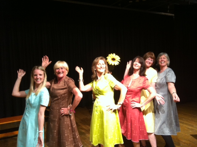 Calendar girls in rehearsal