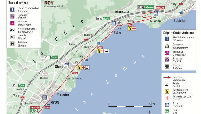Half Marathon from Aubonne to Nyon – Route revealed and registration now open