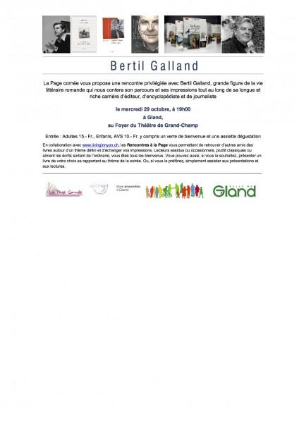 Annonce Bertil Galland
