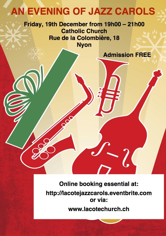 Christmas fair at La Châtaigneraie International School/ Jazz Carols in Nyon