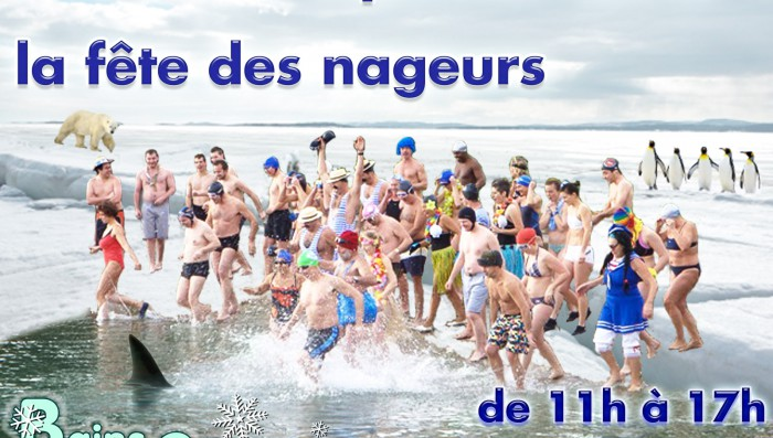 New Year Swim in lake in Nyon on Sunday 4th Jan
