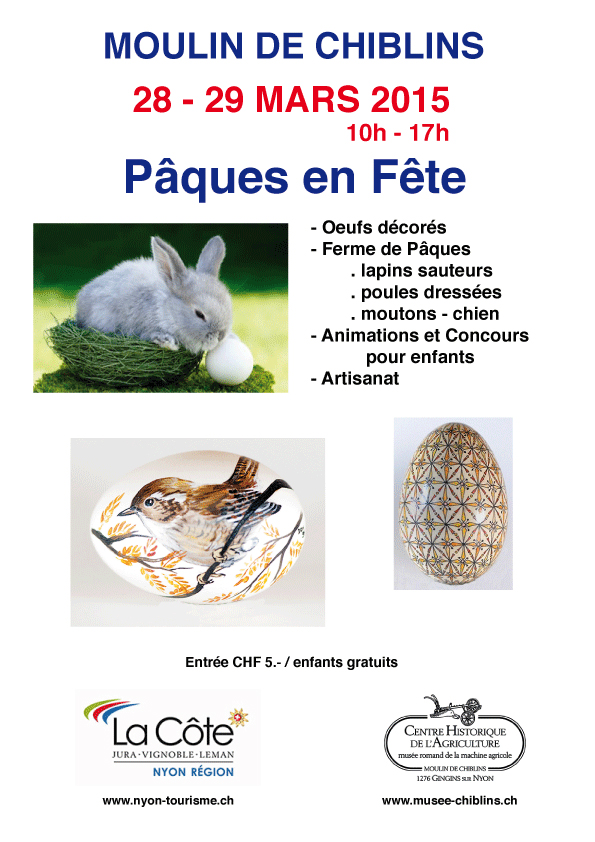 Easter Fête at the Moulins de Chiblins this weekend