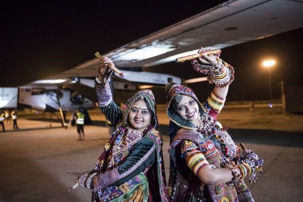 Solar Impulse takes-off from Varanasi to Mandalay