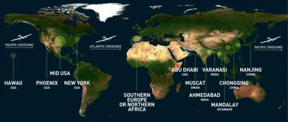 Solar Impulse Route 1