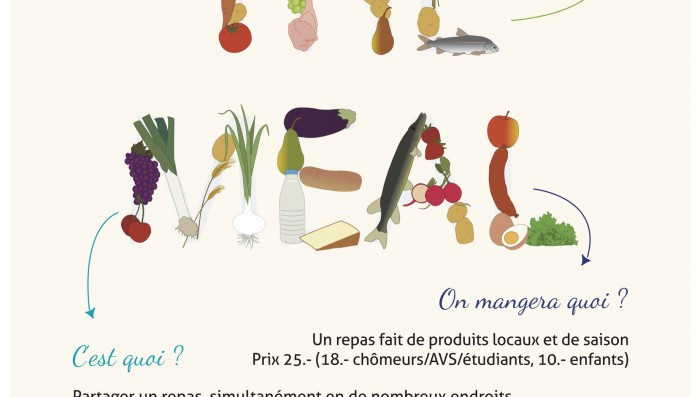 """The Meal"" comes to Nyon on 19th Sept!  Big Communal meal in Centre of Town"