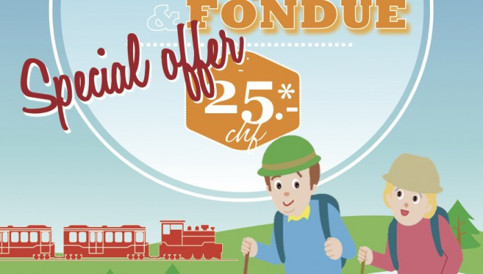 A Train ride, a Hike and a Fondue for 25 CHF! – New offer from Nyon Tourist Board