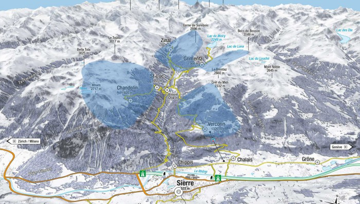 Skiing Options in Small Resorts  – 2 hours drive from Nyon