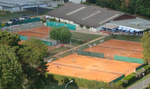 Tennis club ariel view