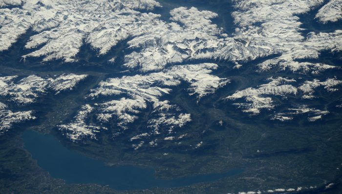 Nyon and the whole of Lac Léman seen from Space
