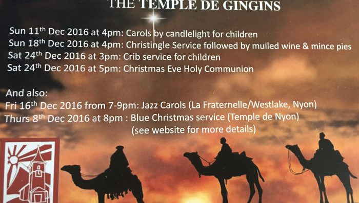 English speaking church services over Christmas