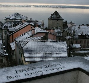 Snow in Nyon and a New Year round the corner
