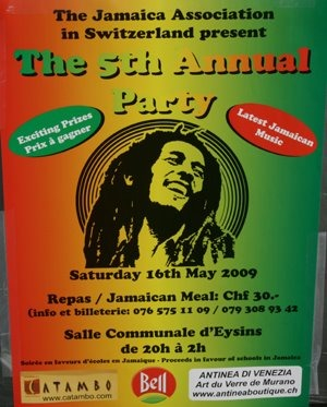 Jamaican party and views of Nyon