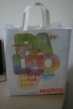 Paléo – It's on the bags, it's in the windows and it's on tomorrow!