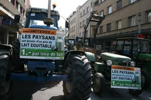 Farmers protest in Nyon