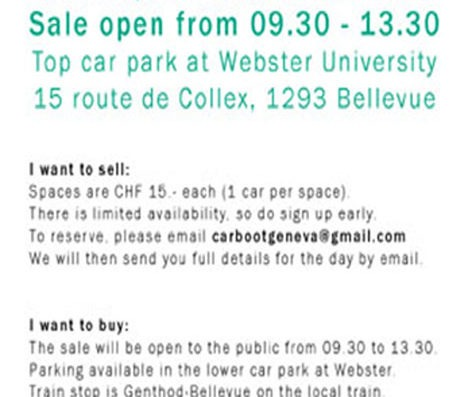 Car Boot sale this Saturday