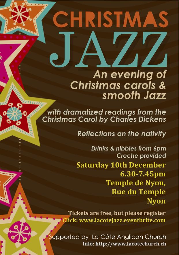 Film Monday night, Smooth Jazz and Christmas Carols Saturday 10th