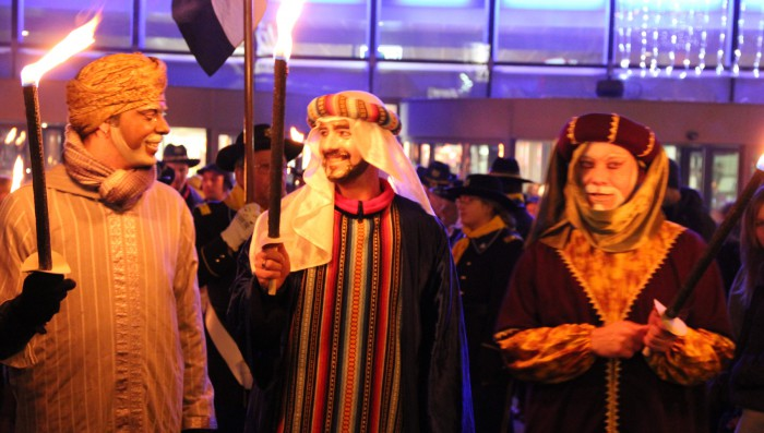 Cake and Three Kings parade in Nyon today – for children and families.
