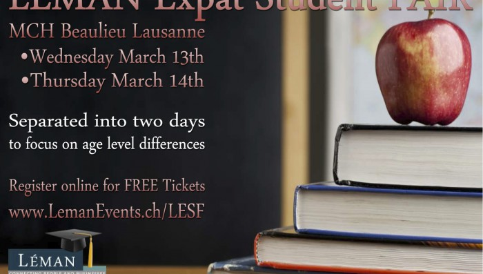 Want to know more about the public and private schools in Switzerland?   Two day student fair next week in Vaud
