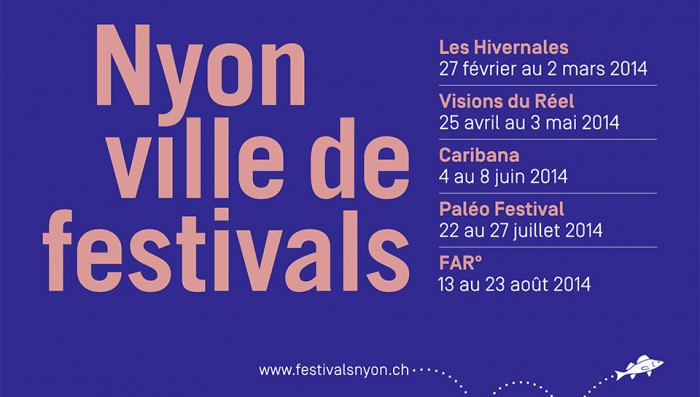 Festival dates for 2014, Roadworks in Nyon centre for 5 months, plus other news.