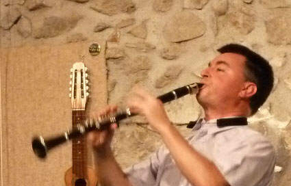 Jazz clarinetist cropped a
