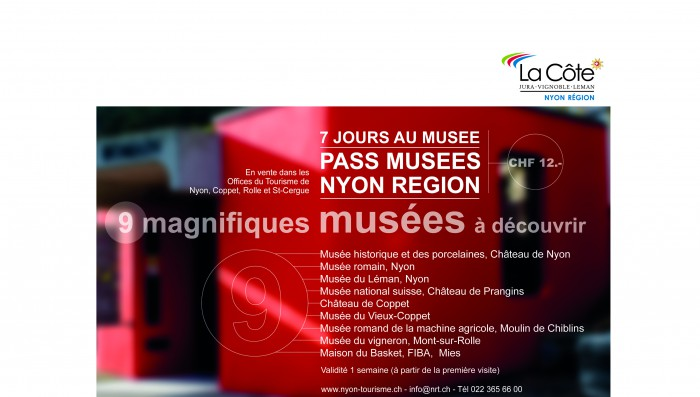 New Tourist Pass of 12 CHF covers 9 museums, Folkloric Market in Morges