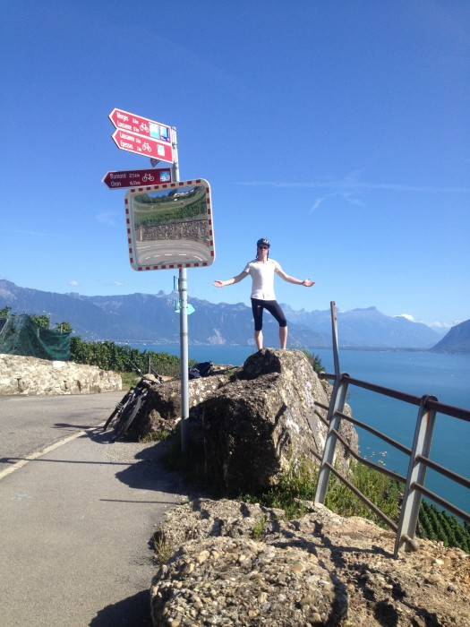 Sam at top of Lavaux