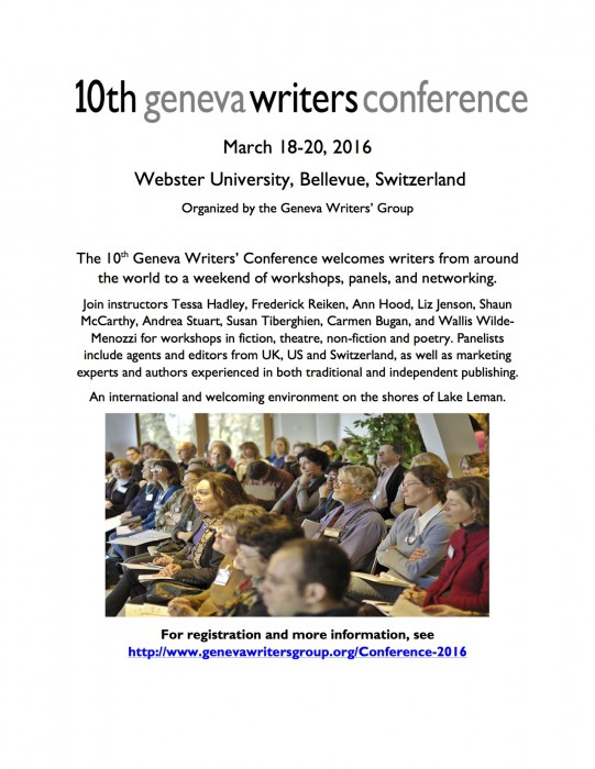 conference flyer color image