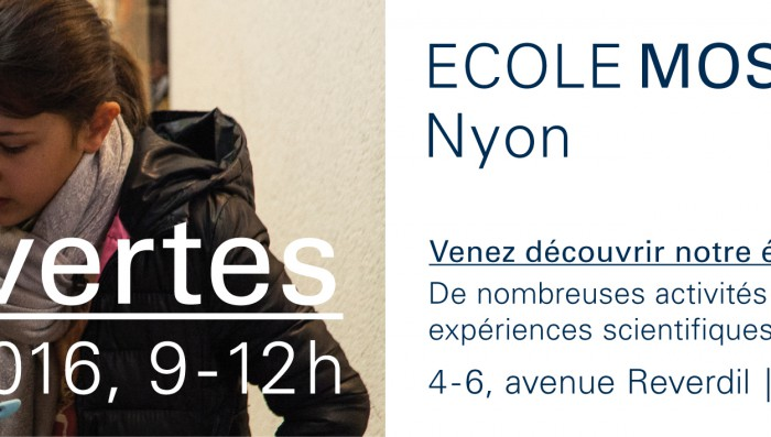 Open House at Ecole Moser school in Nyon Saturday 19th March