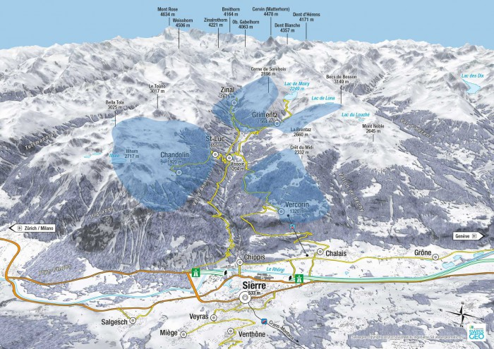 Skiing Options in Small Resorts 2 hours drive from Nyon Living