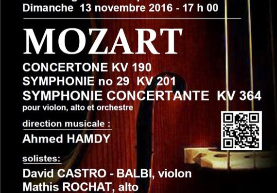 Mozart concerts in Nyon, Aubonne and Geneva in November