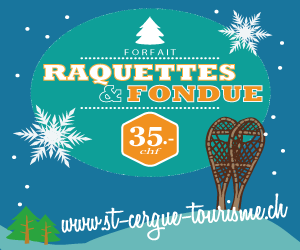 CHF 35 offer for Fondue and Snowshoe walk