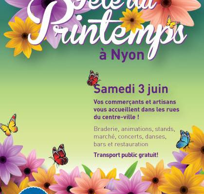 Guided tour of Nyon on 1st – Second-Hand Bike Sale and Spring Market on Saturday 3rd June