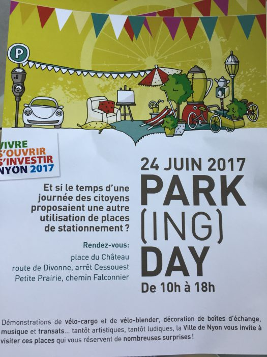 New Nyon event! Parking Day on Saturday 24 June