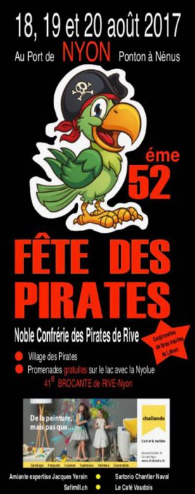 Shiver me timbers, it's the Pirates' Party this weekend in Nyon!