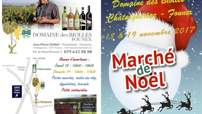 Christmas Market in Founex this weekend – 18th and 19th November