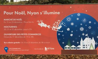 Nyon Christmas Market opens today, Friday 15th Dec – Silent disco and Shops open on Sunday