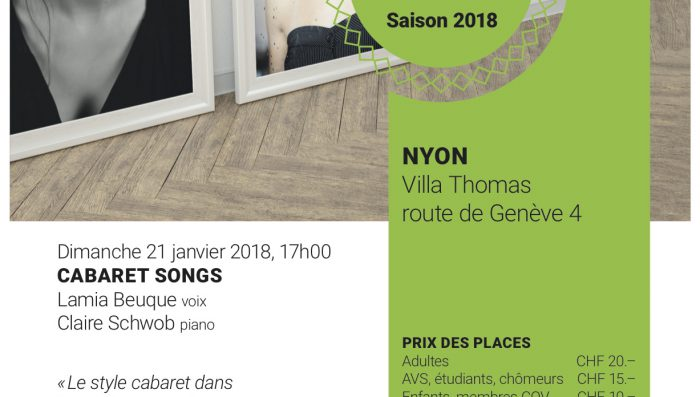 Sunday afternoon classical concert – 21 January in Nyon