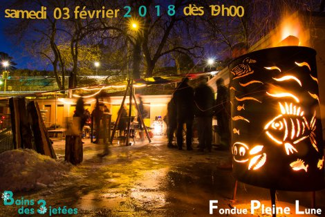 Full Moon Fondue Party by Nyon lakeside – Saturday 3rd February