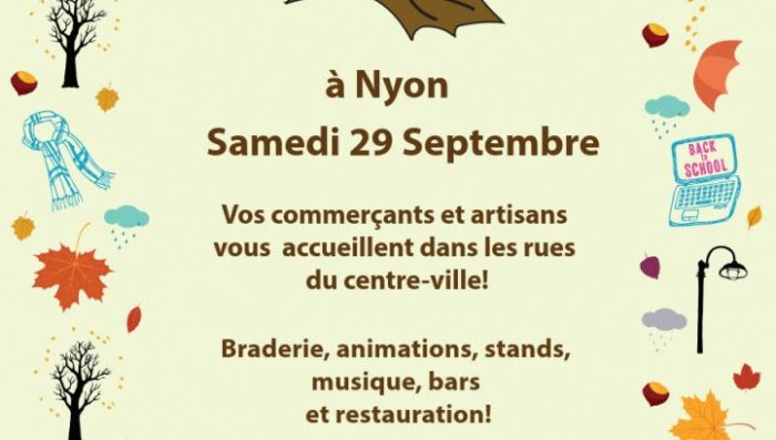 Autumn Market in Nyon Saturday 29th – Lots of events planned!