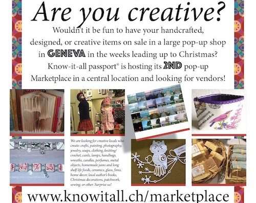 Pop-up-Shop seeking Vendors – Opportunity to sell your handicrafts.