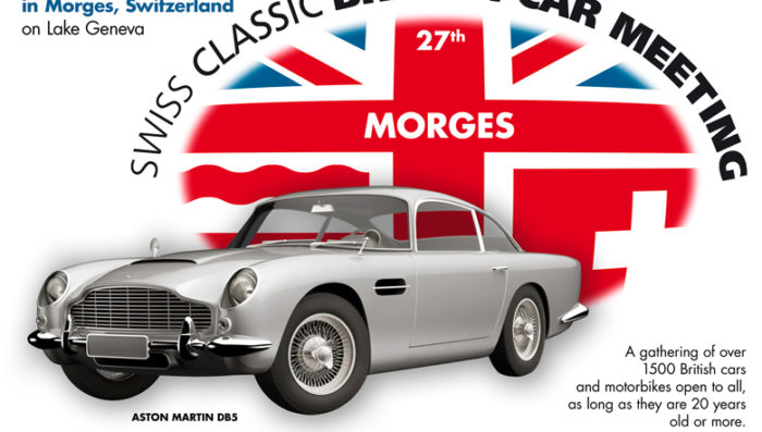 British Classic Cars in Morges Sunday 6th October – Aston Martin guest of honour