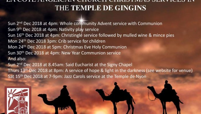 Christmas Services in English in Gingins
