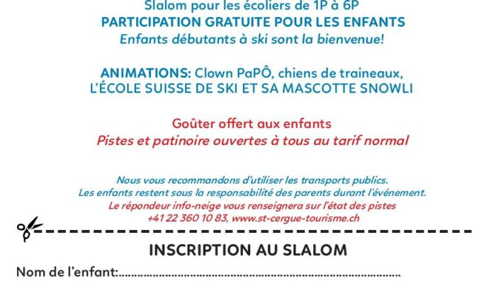 Children's Festival – 3rd Feb in St-Cergue