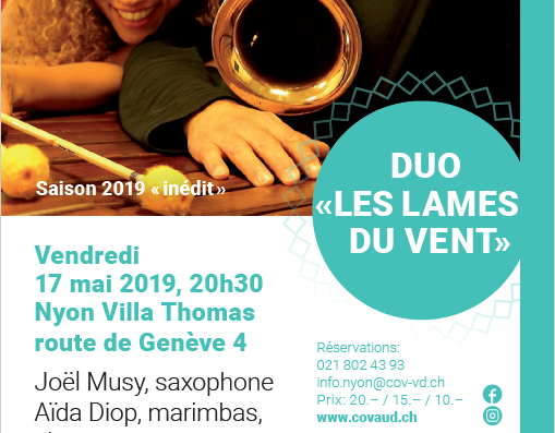 Jazz/ Indie Folk Friday Nyon 17th May – Choir Concert Sun 19th in Perroy