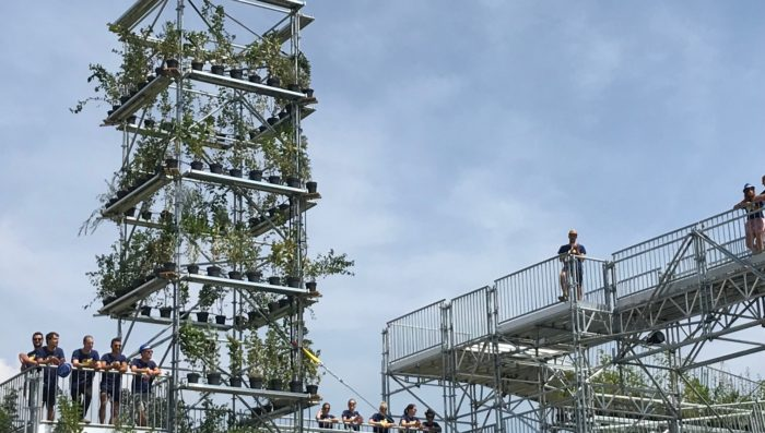 Climb up to Utopia !  The new HES-SO structure at Paléo