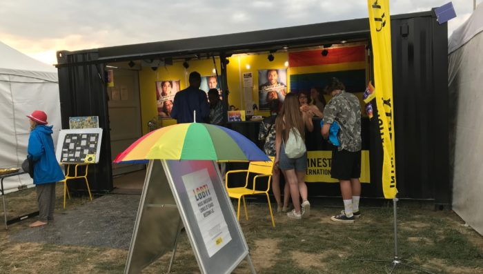 Oldest stall at Paléo – Talking to Amnesty about consent