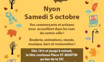 Autumn Market in Nyon – Saturday 5th October